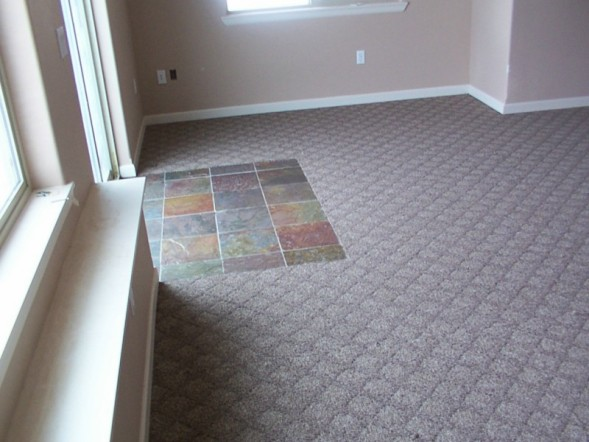 Family Room Tile And Carpet